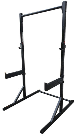 Heavy Duty Half rack with J-Hooks and safety spotters