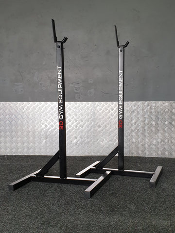 Adjustable squat rack stand