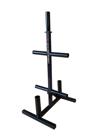 Weights tree for olympic size plates with barbell holders