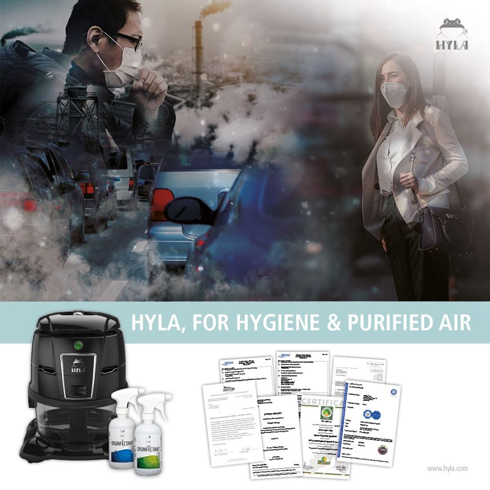 HYLA Air Disinfectant kill viruses, germs and bacteria.