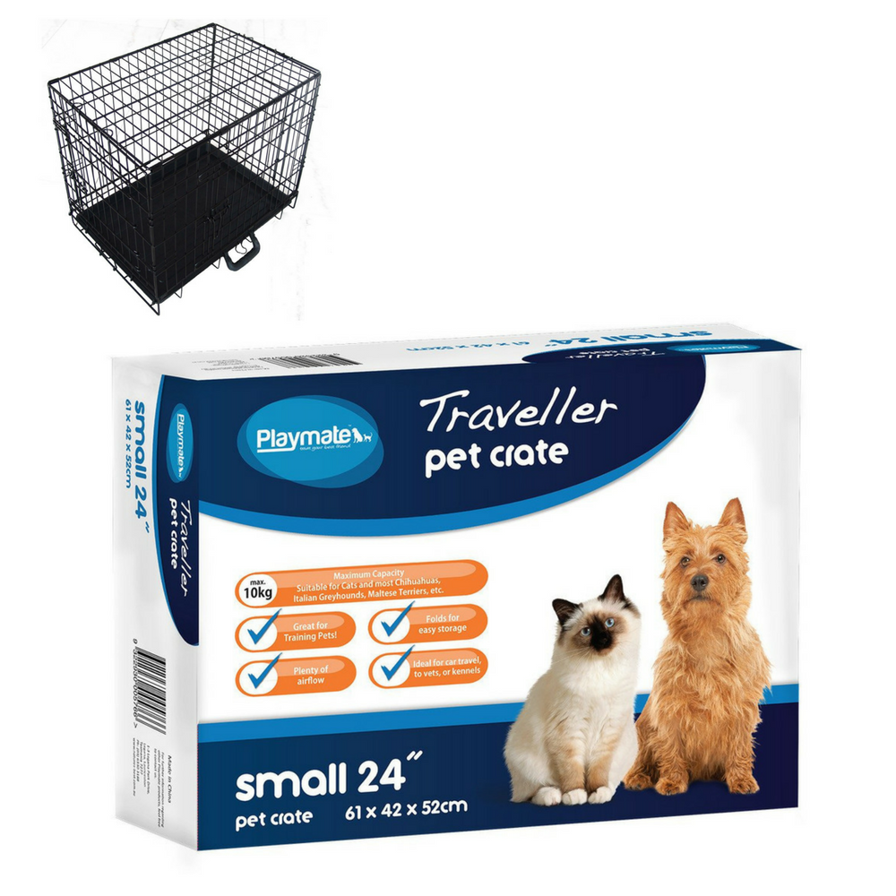 Playmate Traveller Metal Dog Crate Small - Beavers Pet Products