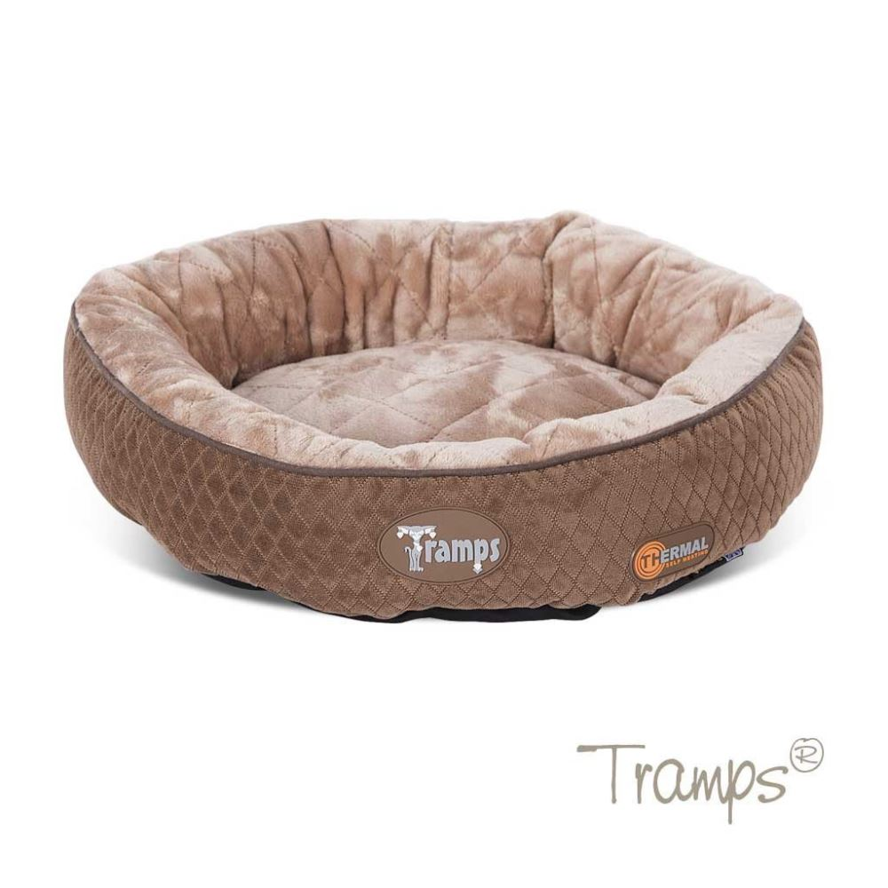 Tramps Thermal Ring Cat Bed Chocolate - Beavers Pet Products