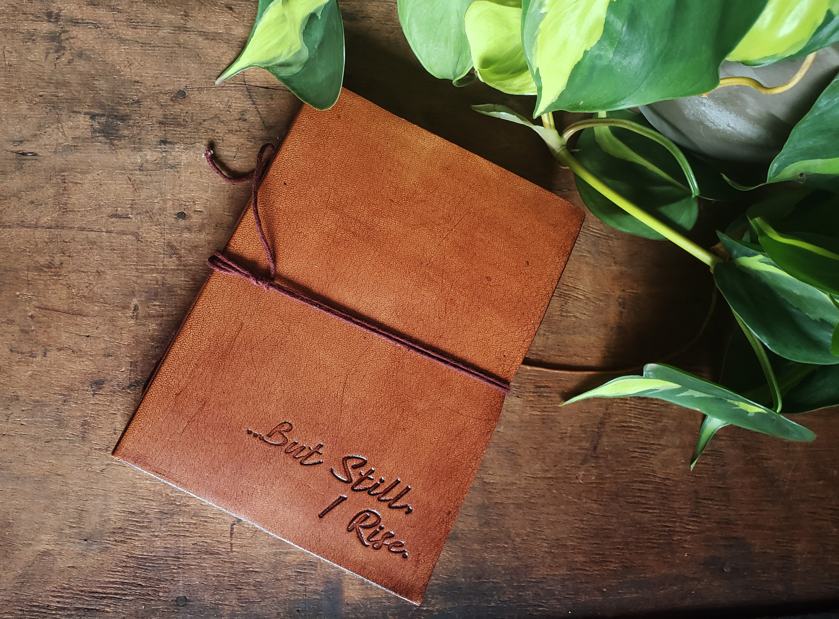 But Still I Rise Leather Journal