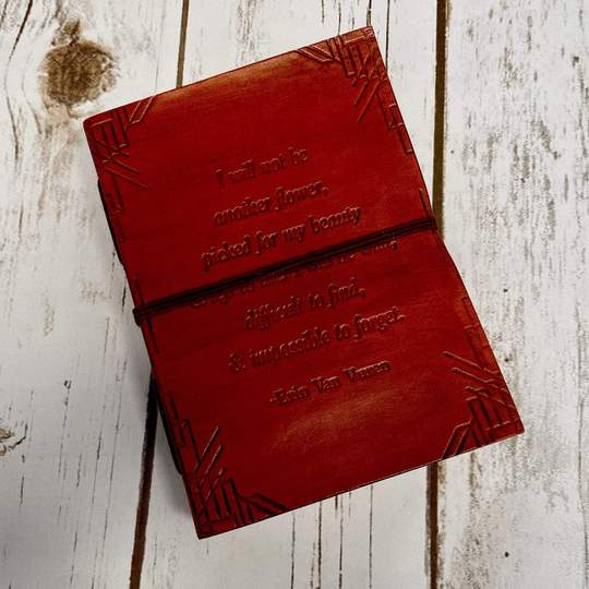 Erin Van Vuren Poetry Handmade Leather Journal