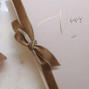 Wedding Vow Books (I)