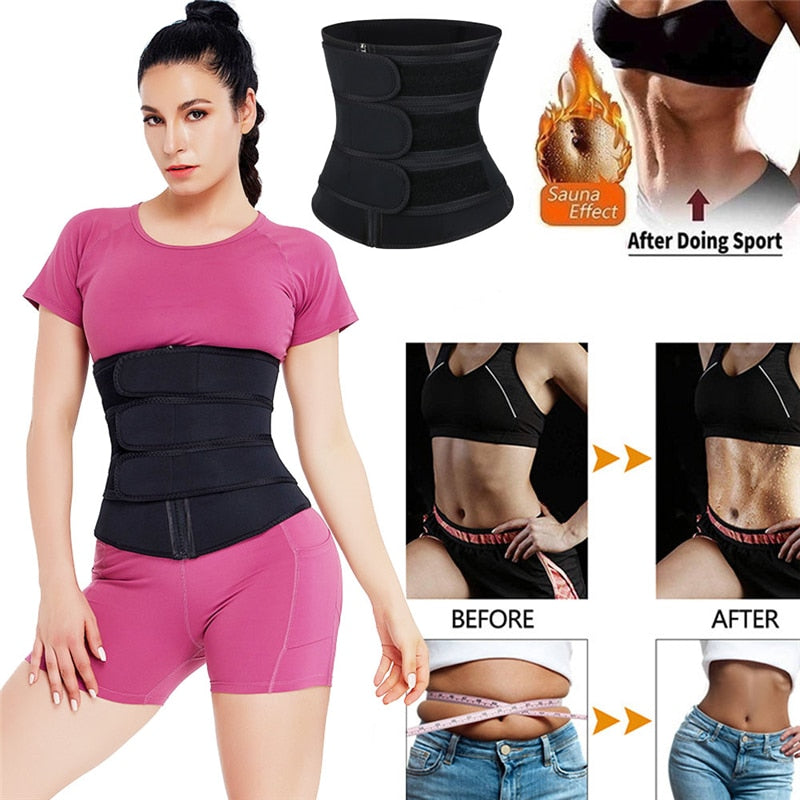 SweatVEE® Three Belt Waist Trainer Up to 6 XL