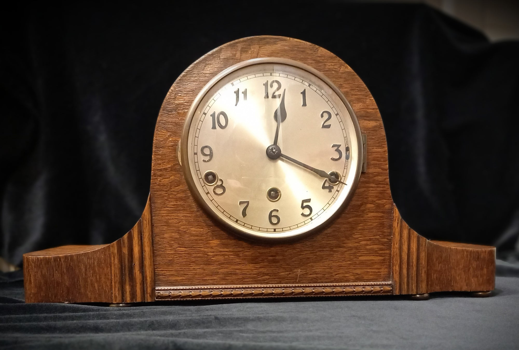 SH Antique Napoleonic Westminster Mantle Clock