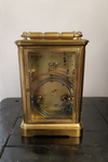 Back view | Brass Carriage Clock - SH Antique | Carriage Clock | Clock Corner