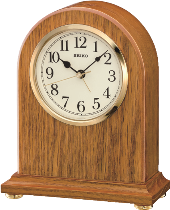 Seiko Quartz Wooden Mantle Clock with Alarm
