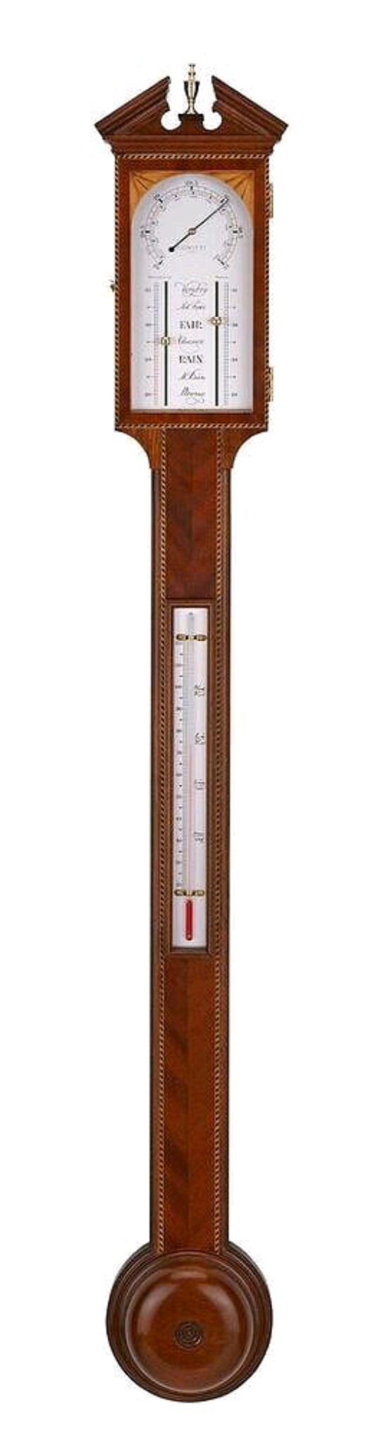 Comitti Of London Aneroid Stick Barometer | Barometer | Clock Corner