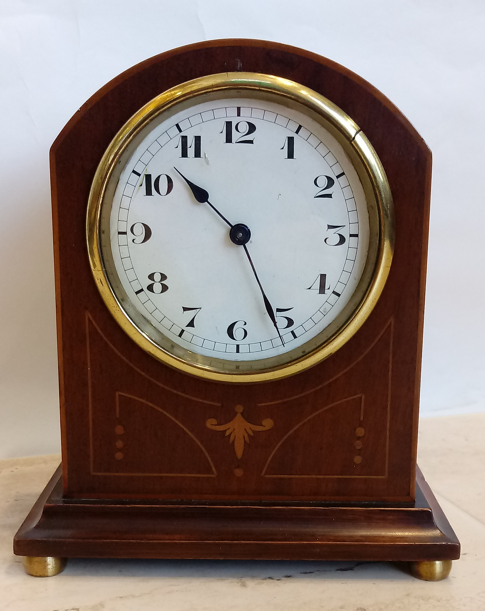 Mahogany Timepiece Mantle/Shelf Clock with inlay and marquetry – SH Antique | Mantel Clock | Clock Corner