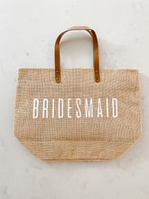 Load image into Gallery viewer, Bridesmaid Jute Tote
