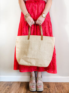 State Outline Jute Tote