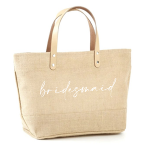 Bridesmaid Jute Tote