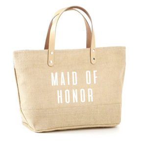 Maid Of Honor Jute Tote