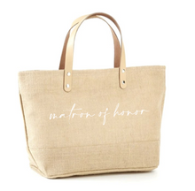 Load image into Gallery viewer, Matron Of Honor Jute Tote