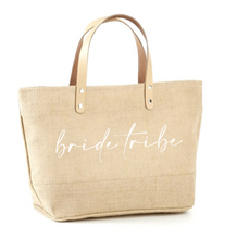 Load image into Gallery viewer, Bride Tribe Jute Tote