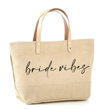 Load image into Gallery viewer, Bride Vibes Jute Tote