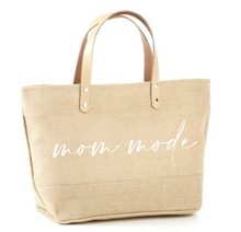 Load image into Gallery viewer, Mom Mode Jute Tote