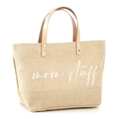 Mom Stuff Jute Tote