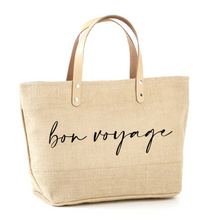 Load image into Gallery viewer, Bon Voyage Jute Tote