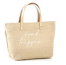 Load image into Gallery viewer, Road Trippin' Jute Tote