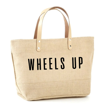 Wheels Up Jute Tote