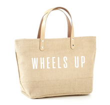 Load image into Gallery viewer, Wheels Up Jute Tote