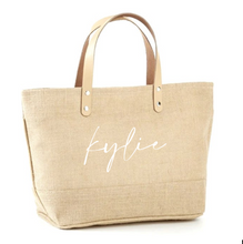 Load image into Gallery viewer, Custom First Name Jute Tote