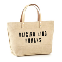 Load image into Gallery viewer, Raising Kind Humans Jute Tote