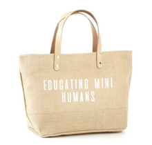 Load image into Gallery viewer, Educating Mini Humans Jute Tote