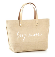 Load image into Gallery viewer, Boy Mom Jute Tote