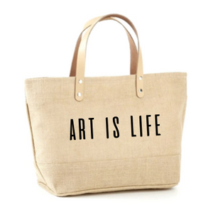 Art is Life Jute Tote