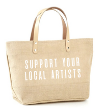 Load image into Gallery viewer, Support Your Local Artists Jute Tote