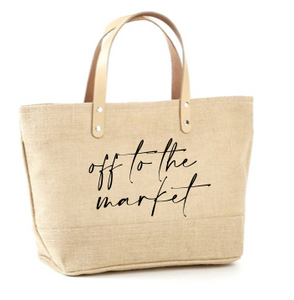 Off To The Market Jute Tote