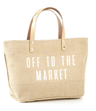 Load image into Gallery viewer, Off To The Market Jute Tote