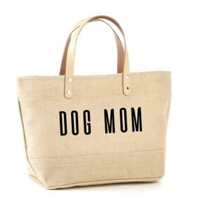 Dog Mom Jute Tote
