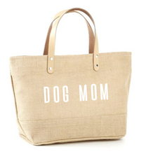 Load image into Gallery viewer, Dog Mom Jute Tote
