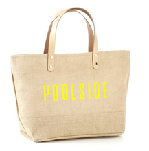Load image into Gallery viewer, Poolside Jute Tote
