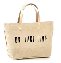 Load image into Gallery viewer, On Lake Time Jute Tote