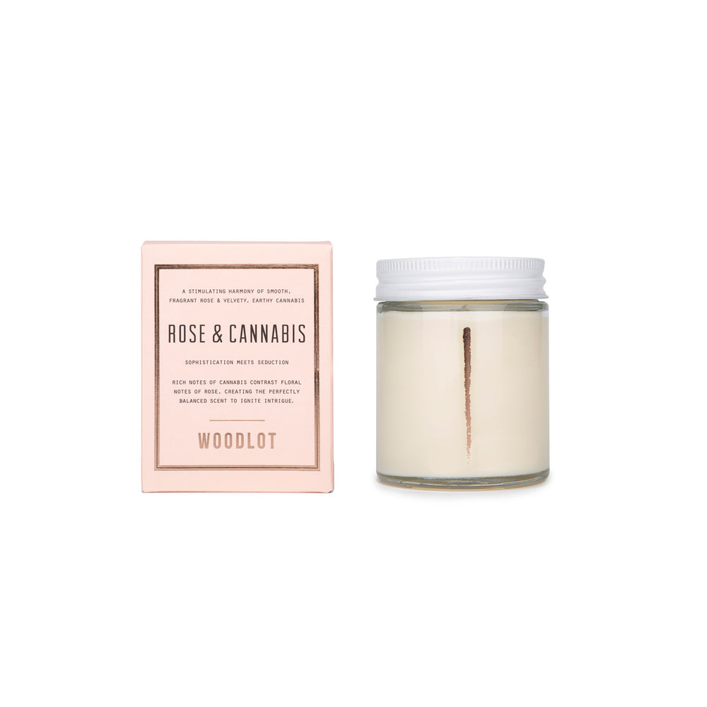 Woodlot Rose & Cannabis Candle