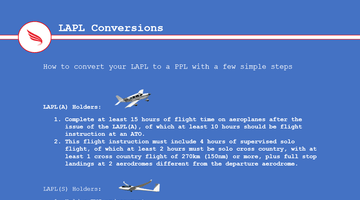 Convert your LAPL to a PPL(A) in a few easy steps