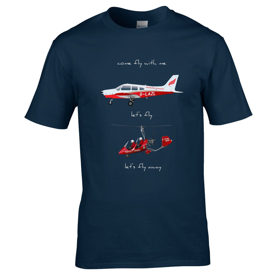 Highland Aviation T-Shirt - Come Fly With Me - Highland Aviation