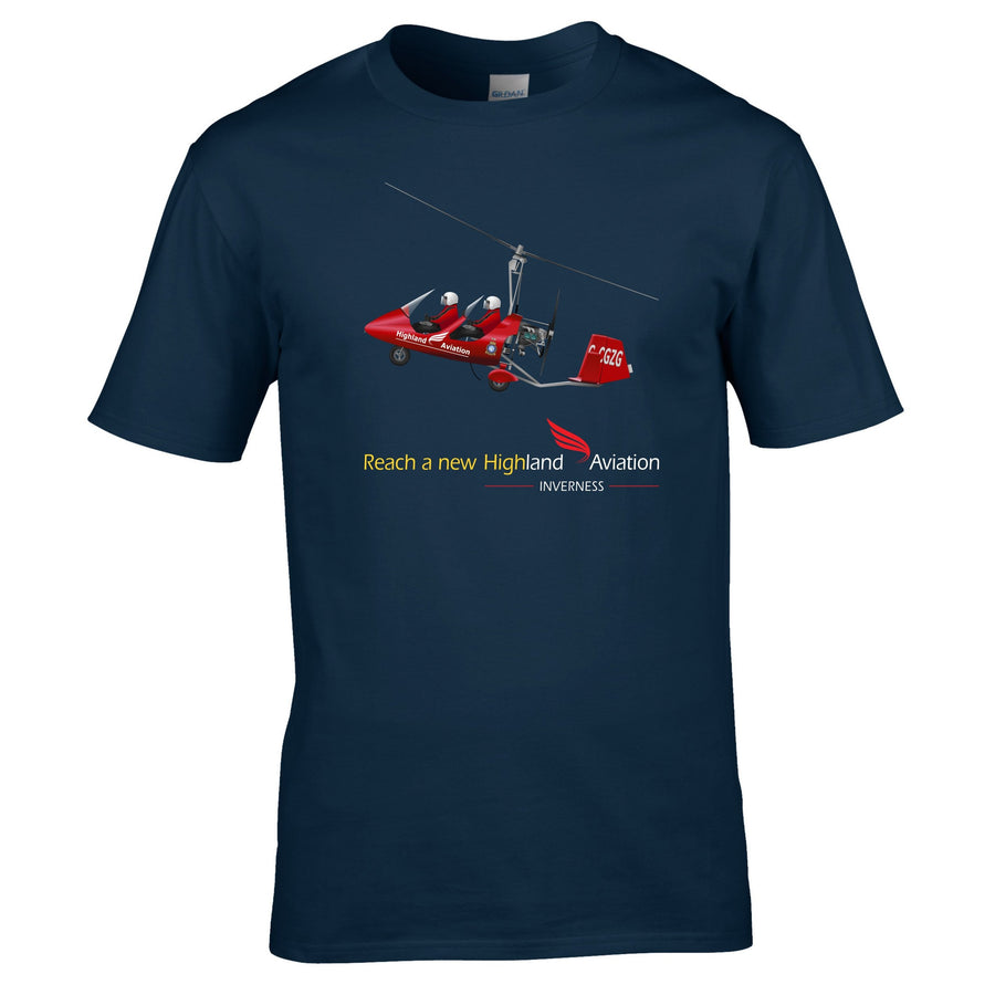 Highland Aviation T-Shirt - Gyrocopter Reach a New High - Highland Aviation