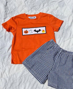 Halloween Applique Boys Set