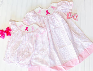 Breast Cancer Smocked Bubble