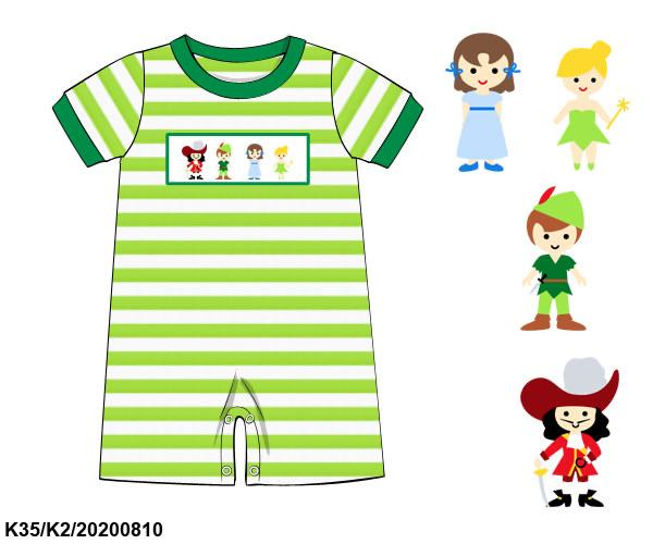 Smocked Peter Pan Boy Romper