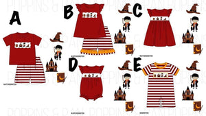 Harry Potter Smocked Girls Short Set