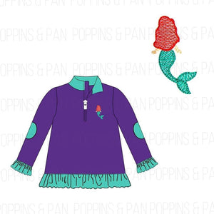 Mermaid Embroidered Pullover