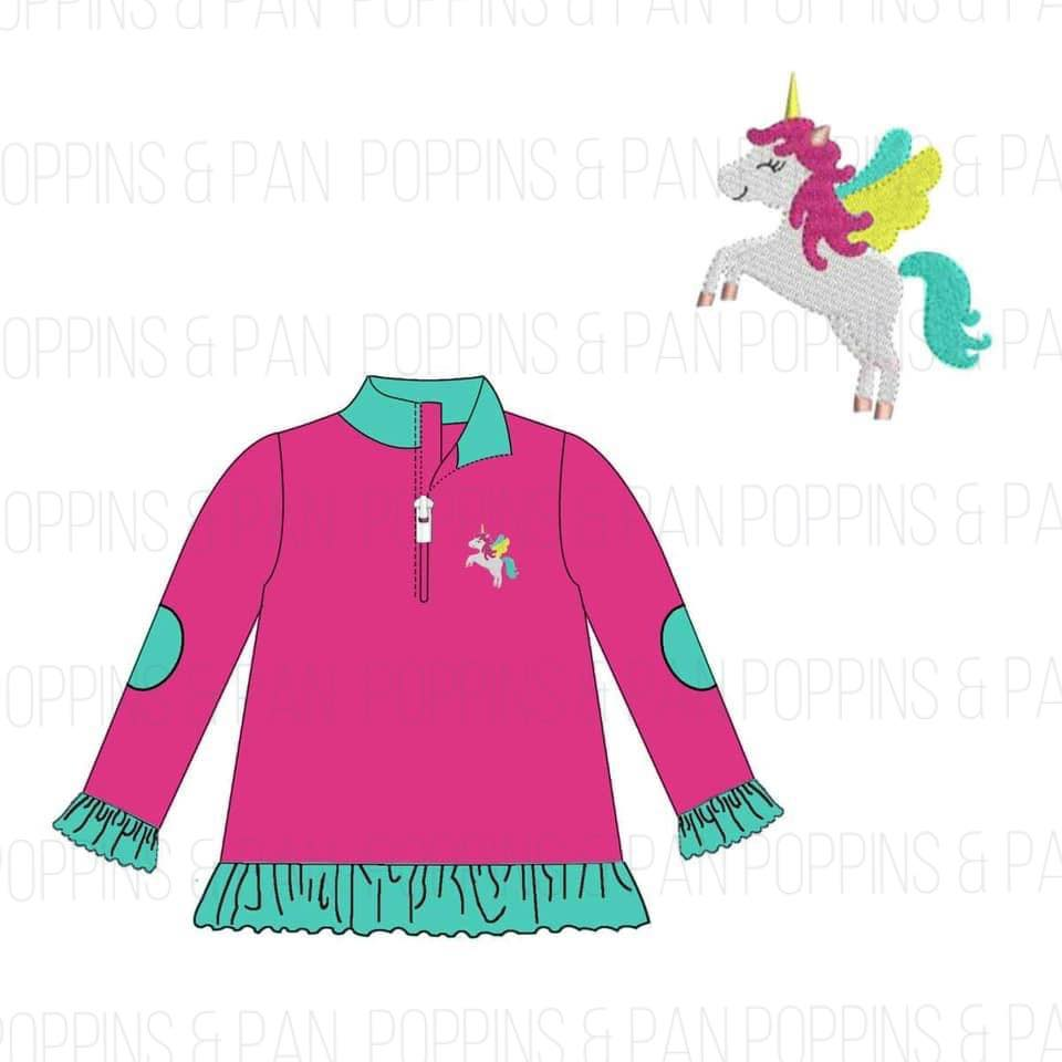 Unicorn Embroidered Pullover